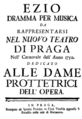 Christoph Willibald Gluck - Ezio - titlepage of the libretto - Prag 1750.png