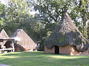 Reconstructed dwellings at the Chucalissa site