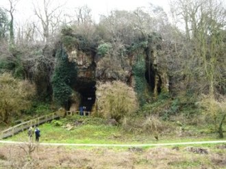 Creswell Crags - Church Hole Cave is home to Palaeolithic etchings.