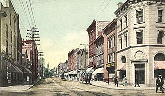 Burlington, Vermont - Church Street in 1907