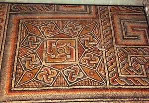 Solomon's knot - Multiple Solomon's knots in a mosaic in the Church of the Nativity (Bethlehem)