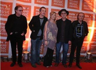Clannad - The original line-up in 2007 at the Meteor Ireland Music Awards. Left to right: Noel Duggan, Pól Brennan, Moya Brennan, Ciarán Brennan, and Pádraig Duggan