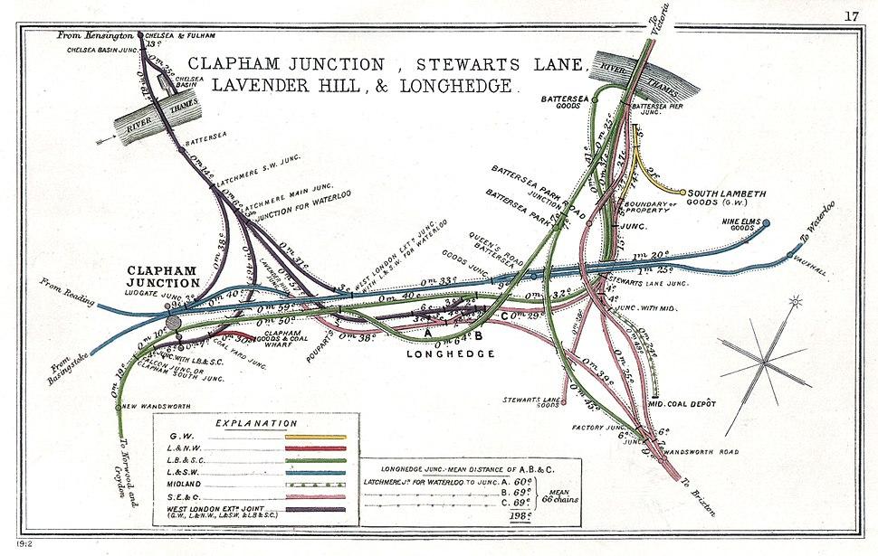 Clapham Junction, Stewarts Lane, Lavender Hill %26 Longhedge RJD 17