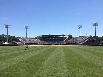 Clark–LeClair Stadium - Center field in 2016