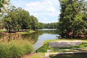 Clayton State University - The Judge Eugene Lawson Amphitheater overlooking Swan Lake