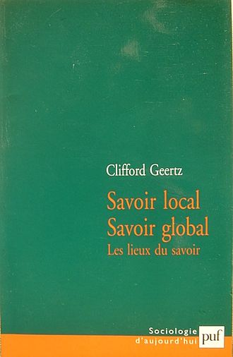 "Clifford Geertz - French Edition of Geertz' ""Local Knowledge"""