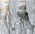 "Closeup -19 Tribute Bearer and Achaemenid Guide on the Apadana Staircase (Best Viewed Size ""Large"") (4688842565).jpg"