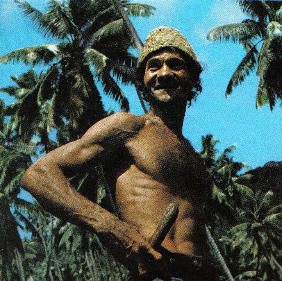 Coconut plantation worker Seychelles