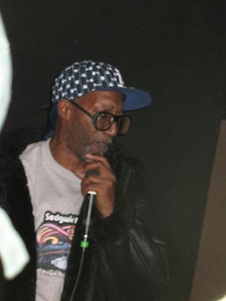 Coke La Rock - Coke La Rock performing with DJ Kool Herc at a February 28, 2009 event in the Bronx.