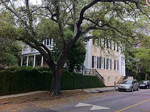 Wade Hampton III - The Col. William Rhett House, 54 Hasell St., Charleston, South Carolina, the birthplace of Wade Hampton III