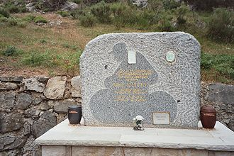 René Vietto - Tombstone of Vietto on the Col de Braus