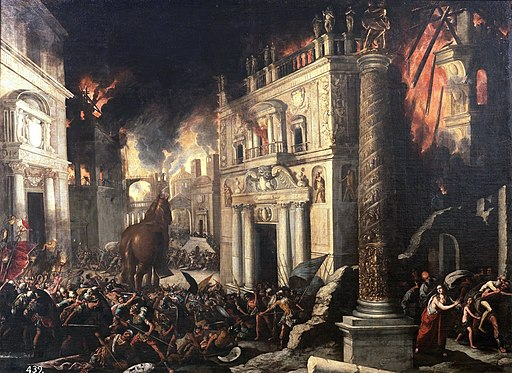Gemälde: Francisco Collantes - El incendio de Troya