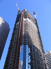 Comcast Center, Philadelphia's newest office building, under construction