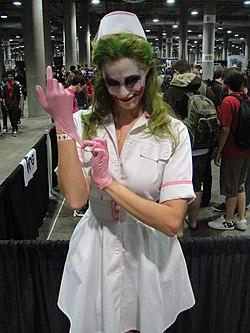 Comikaze Expo 2011 - the Joker as a nurse (6324613531)