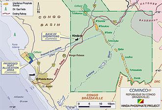 Cominco Resources - Location of Cominco's Hinda Project in the Republic of Congo