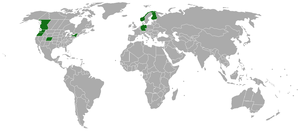 Approximate range of Conocybe cyanopus