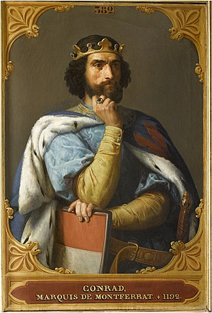 Conrad of Montferrat - Imaginary portrait of Conrad, c. 1843, by François-Édouard Picot for the Salles des Croisades at Versailles
