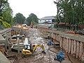 Construction of West Didsbury Metrolink Station (geograph 4292632).jpg