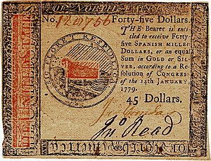 Continental Currency $45 banknote obverse (January 14, 1779).jpg