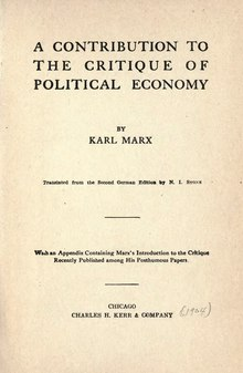a life and contribution of karl marx