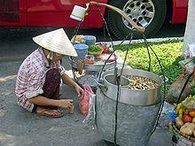 Mobile Nudelsuppen Garküche In Ho Chi Minh Stadt