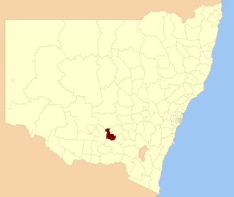 Coolamon Shire - Location in NSW