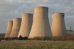 Cooling towers in the sunset, Ratcliffe Power Station - geograph.org.uk - 396420.jpg