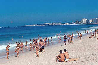 Copacabana, Rio de Janeiro - Copacabana Beach in 1971