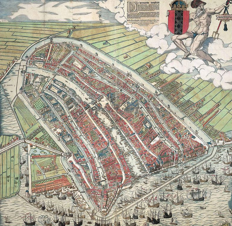 Carta d'Amsterdam in 1557 de Cornelis Anthonisz