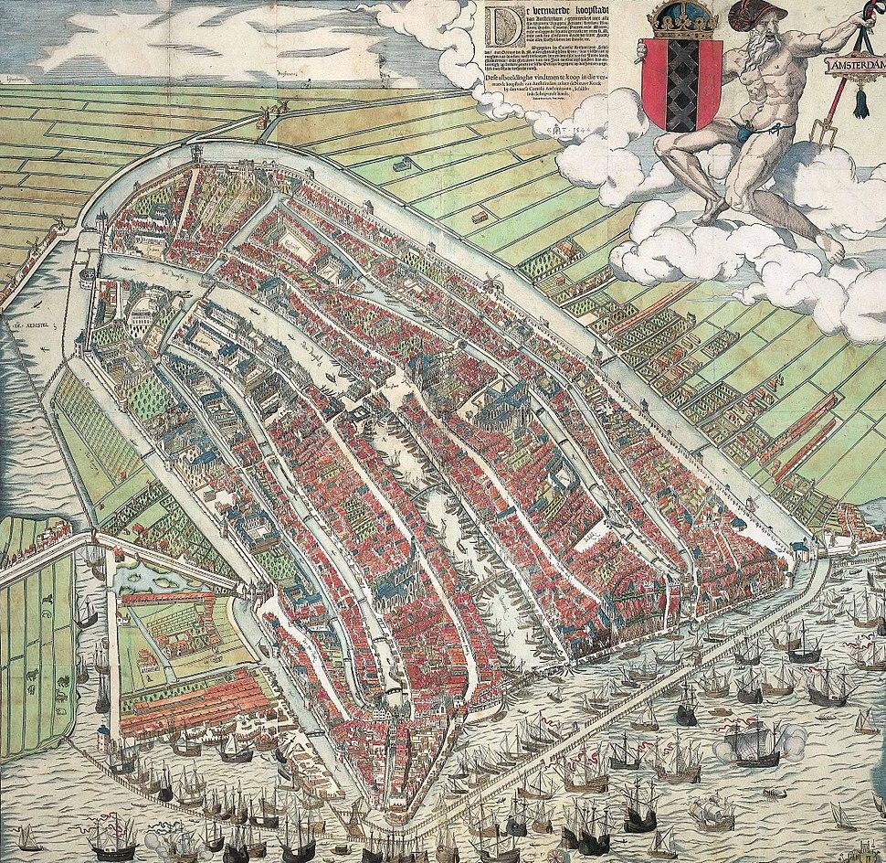 Cornelis anthonisz vogelvluchtkaart amsterdam