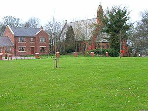 Cornforth - Village green and church at Cornforth