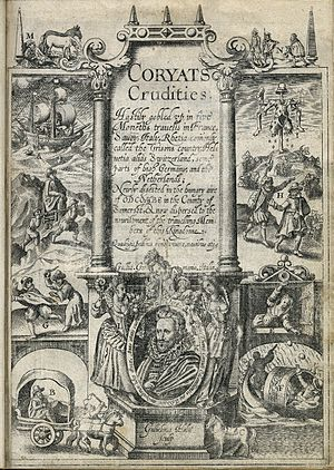 Coryat's Crudities - The title page of Coryat's Crudities, printed in 1611.