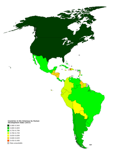 File:Countries in the Americas by Human Development Index (2015).png