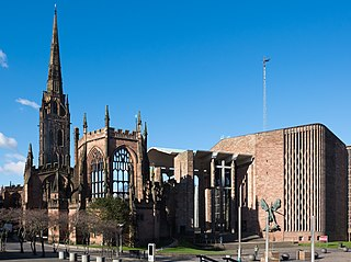 Coventry Cathedral Church in West Midlands, England