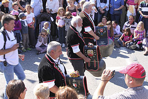Russin - Cow bells in the Russin grape harvest festival