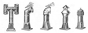 Cowl (chimney) - Cowl designs from a 1910 catalogue