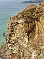 Cracked cliff near Bedruthan Steps - geograph.org.uk - 224329.jpg