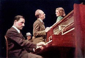 Howard Da Silva - Marc Blitzstein, Howard Da Silva and Olive Stanton in the Mercury Theatre production of The Cradle Will Rock (1938)