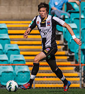 Craig Goodwin playing for Newcastle Jets in 2012.