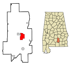 Location in Quận Crenshaw, Alabama