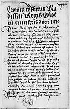 Cronica conflictus Wladislai Regis Poloniae cum cruciferis anno Christi 1410