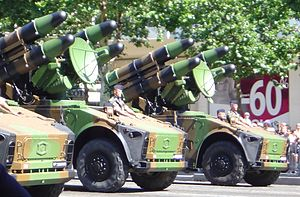 Crotale (missile) - Crotale missile launchers of the French Air Force.