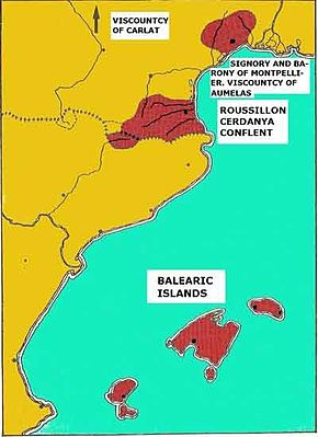 Ubicació de Regne de Mallorca