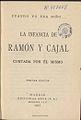 Cuando yo era niño ; la infancia de Ramón y Cajal 1925.jpg