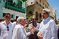 Cubans Watch as Secretary Kerry and a Tour Guide Walk Through the Plaza de San Francisco in Old Havana (20390151420).jpg