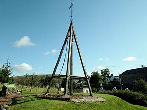 Curfew bell - Curfew bell at Leadhills
