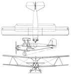 Curtiss Tanager 3-view Aero Digest February,1930.png