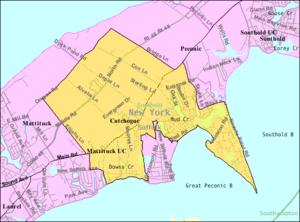 Cutchogue, New York - Image: Cutchogue ny map