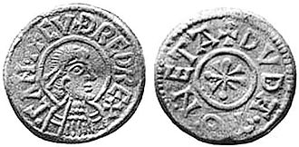 Cuthred of Kent - Coin bearing the name of Cuthred and depicting him.