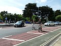 Cyclists heading round the King's Road Roundabout - geograph.org.uk - 1940676.jpg